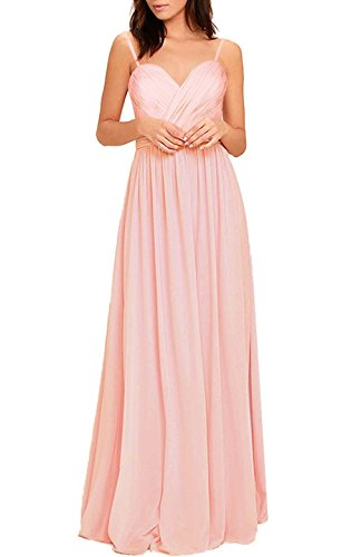 Absolute Rosy Women's Sweetheart Bodice Chiffon Prom Bride Maid Evening Dress Peach S