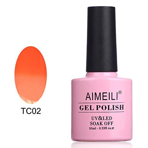 AIMEILI Soak Off UV LED Température Changement de Couleur Chameleon Vernis à Ongles Gel Semi-Permanent - Peaches & Cream (TC02) 10ml