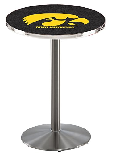 Licensed Iowa Hawkeyes Pub Table (Holland Bar Stool L214S University Of Iowa Officially Licensed Pub Table, 28