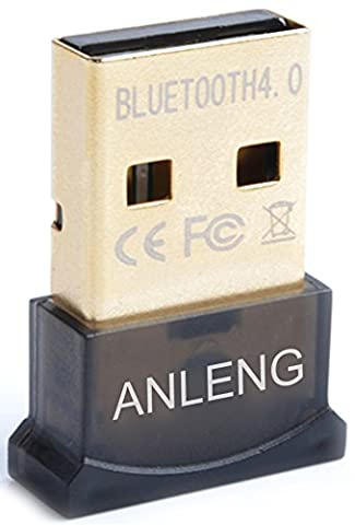 ANLENG Bluetooth 4.0 USB Dongle Adapter Universal Plug Compatible with Windows 10, 8, 7, Vista, XP, 32/64 Bit for Cellphones Mouse Printers Keyboards Headsets - Bluetooth Headset Compatible