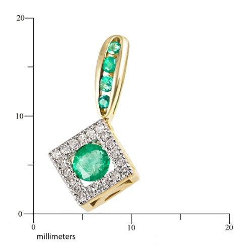 Goldmaid - Fa A5947GG - Collier Femme - Or Jaune 375/1000 (9 Cts) 1.1 Gr - Emeraude
