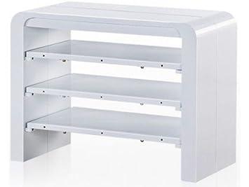 table console extensible blanc laqu avec rangement zelda 3 rallonges - Table Console Extensible Blanc Laque