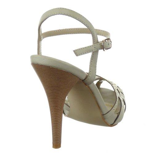 Strass Beige Sternen Mode Pumpe Schuhe Damen Stiletto Sopily Besetzt g0z1qz