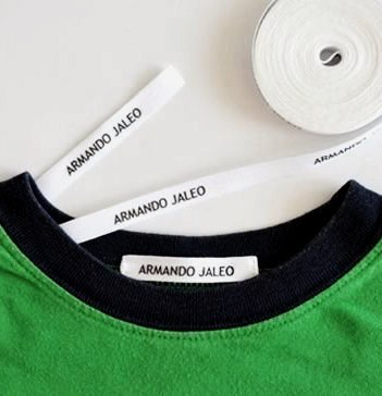 100 PERSONALIZED LABELS TO MARK CLOTHES. SEWING TAPE IN CLOTHES. Gentle with Your Kids Skin, for Children's School Uniform / Clothing Labels for Kids, Baby and Children. SEND TEXT in GIFT MESAGE