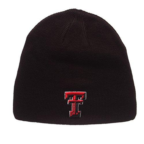 94835dd574062 ZHATS Texas Tech Red Raiders Black Edge Skull Cap - NCAA Cuffless Winter  Knit Be.