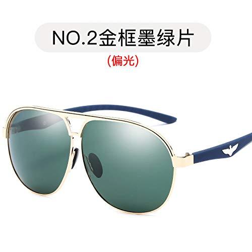 Hielo film Gafas metálicas Moda de Gafas Marco de polarizadas de Hombres Sol Gold green para frame de Gafas Pistola Estilo dark Sol de Burenqiq Azul Aviador Sol Espejuelos polarizadas xfgqYOww6