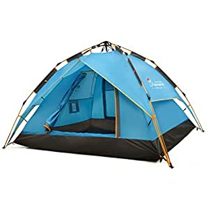 Mountaintop Outdoor 2-3 Person Camping Tent/Backpacking Tents with Carry Bag 3 Season Tents for Camping Blue