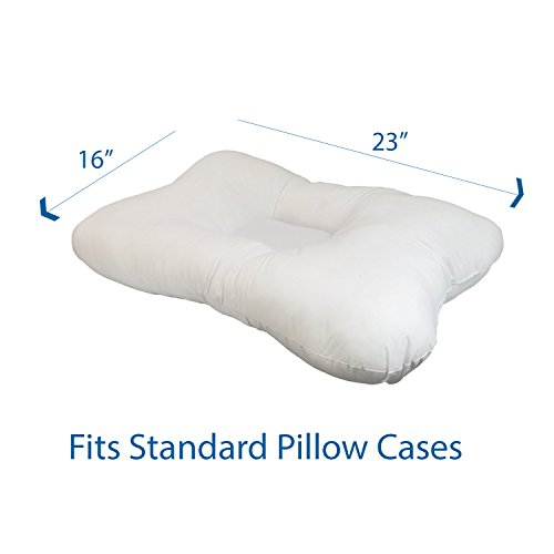 Roscoe Cervical Indentation Neck & Side Sleeper Pillow, Fiber Filled Cervical Pillow, 16'' x 23'', Neck and Head Contour Pillow for Sleeping on Back, Side, or Stomach, Promotes Healthy Sleep Posture and Spine Alignment by Roscoe Medical (Image #3)