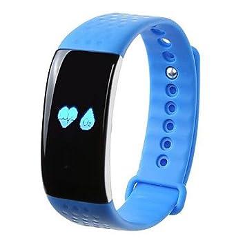 TR ritmo cardíaco de oxígeno k1 pulsera inteligencia IP65 resistente al agua de mensajes de texto de teléfono para recordar el movimiento , blue