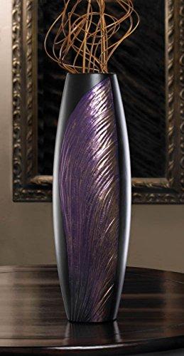 Home Vase Tabletop Modern Accent Purple Black Filler Wooden Centerpiece Elegant Unique Wood Art Contemporary - In Galleria Roseville
