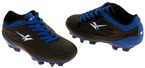 Gola Activo 5 Niños Zapatos de Fútbol de Césped Artificial Negro y Azul