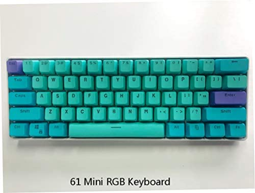 Blue Switch BOYI Mini RGB Gateron Switch PBT Keycap 60/% RGB Mechanical Gaming Keyboard