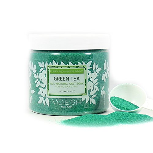 Voesh Mani.Pedi-Cure System Green Tea Sea Salt, 19 Ounce