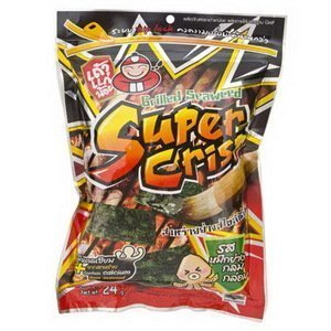 Super Crisp Grilled Seaweed Hot Chili Squid Flavor (Pack of 6)