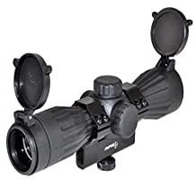 Sniper LT6X32LR Rubber Por Armored 6 x 32 Scope with Carry Handle Ring Picatinny Adapter