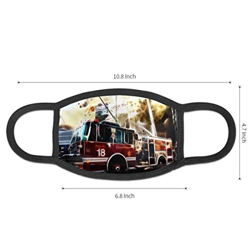 Fire Truck Unisex Mouth Mask Washable Reusable Dustproof Safety Mask For Outdoor Cycling Shopping