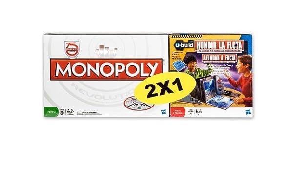 Hasbro Pack Monopoly Revolution + Hundir la Flota Ubuild - Pack de Dos Juegos de Mesa: Amazon.es: Juguetes y juegos