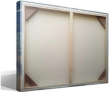 Canvas lienzo bastidor Paseo a la Orilla del Mar de Joaquín Sorolla y Bastida - 45cm x 55cm - Bastidor: 3cm - Impresión sobre Lienzo de Algodón 100% - Bastidor de madera