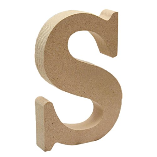 - Flameer Wooden Wood Alphabet Letter Plaque for Desktop Wall Decoration, A to Z Patterns - S