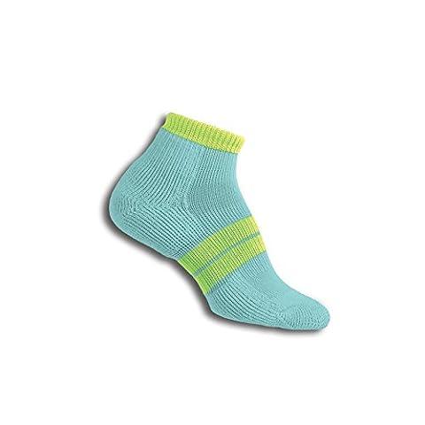 Thorlos 84N Women'S Runner Micro Mini Sock Size: L, Spear/Elec Yelow with a Helicase Sock Ring - 84n Runner
