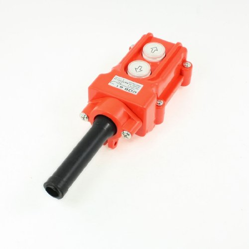 (uxcell Water Proof Hoist Crane Pendant Up Down Station Pushbutton)