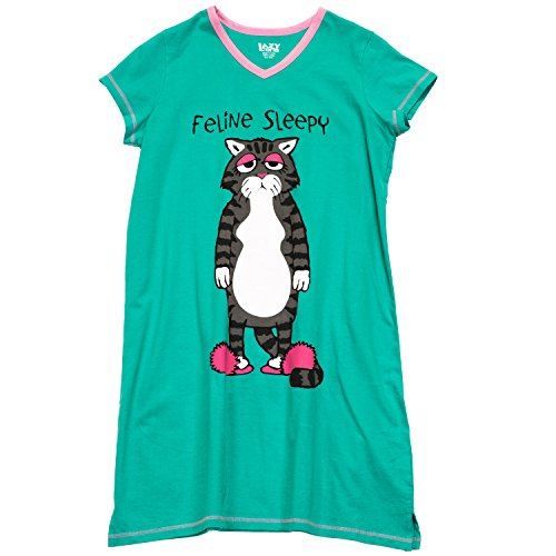 Women's Feline Sleepy Nightshirt