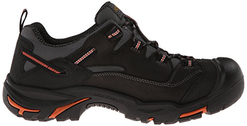 Keen Utility Mens Braddock Low Steel-Toed Boot,Black/Bossa Nova,10 D US