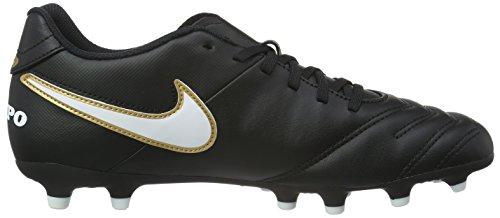 Nike 819233-004, Zapatos de Fútbol Hombre Multicolor (Negro/Blanco/Dorado (Black/White-Metallic Gold)