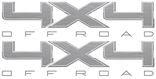 4x4 Decals (Silver) - 2009 to 2014 Ford (4 X 4 Decal)