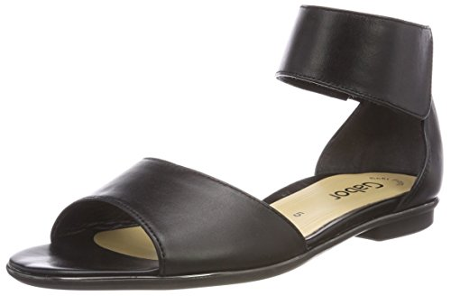 Gabor Women's Fashion Ankle Strap Sandals Black (Schwarz) discount clearance store outlet store locations ZHW1KavkW