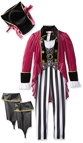 [California Costumes Fashion Pirate Costume, Black/White/Berry, Large] (Fun Halloween Costumes For Tweens)