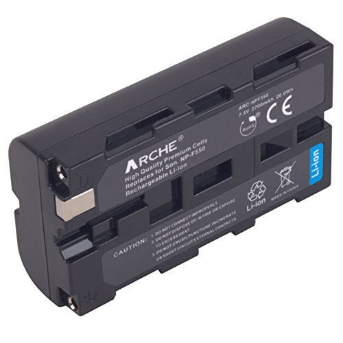 ARCHE NP-F550 Replacement Battery <1 Pack> for [Sony NP F970 F750 F770 F960 F550 F530 F330 F570 & CCD-RV100 RV200 SC55 SC5 SC9 TR1 TR516 TR716 TR818 TR940 TR917 Camera CN-160 CN-216 LED Video Light] by ARCHE