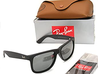 Ray Ban Justin RB4165 622/6G 51 rubber black / grey mirror silver 7uJsPR