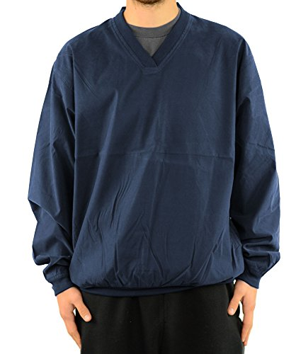 Harvard Square Pullover V-Neck Microfiber Windshirt (Squares Pullover)