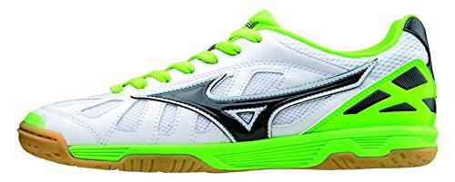 Mizuno Zapatos de deporte Oficial Futbol 2015/2016 Sala Premium IN Q1GB155074 Blanco Negro Lime Tamano 44
