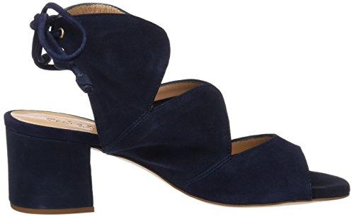 PEDRO MIRALLES 19048, Sandalias con Tira de Tobillo para Mujer Azul (Marino)