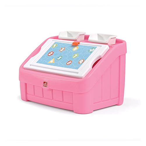 (Step2 2-in-1 Toy Box and Art Lid, Pink)