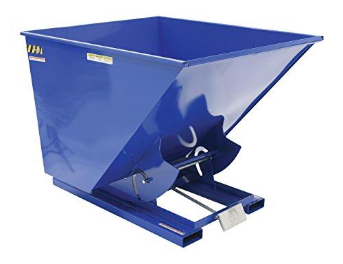 Vestil D-200-HD Heavy Duty Self-Dumping Hopper with Bumper Release, Steel, 6000 lb. Capacity, Overall L x W x H (in.) 68-5/16