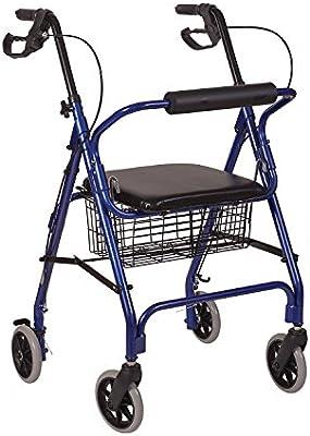 HealthSmart 501-1012-2100HS - Andador de ruedas de aluminio ultra ...
