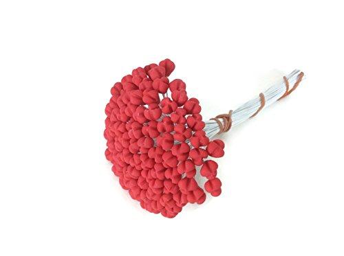 Red Stamen Pollen Lilly Flower Craft Artificial Scrapbook Floral Round Wire Wedding Card Making