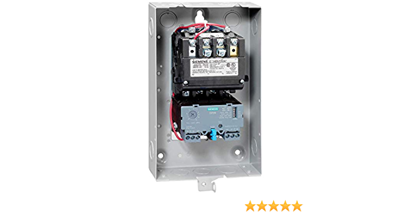 110-120//220-240 at 60Hz Coil Voltage Ambient Compensated Bimetal Overload 3 Pole 3 NEMA Size 90A Contactor Amp Rating 3 Phase Siemens 14HP820A81 Heavy Duty Motor Starter NEMA 12//3 and 3R Weatherproof Extra Wide Enclosure Manual//Auto Reset