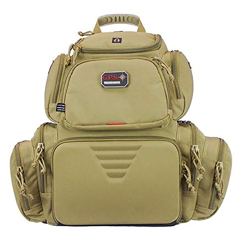 G.P.S Handgunner Backpack Range Bag, Tan