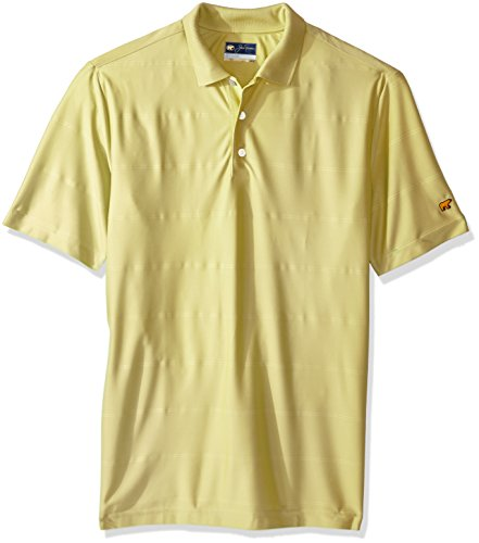 - Jack Nicklaus Men's Short Sleeve Large Scale Ottoman Polo, Popcorn_Solid, Medium