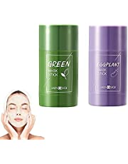 Green Mask Stick Green Clay Purifying Clay Stick Face Cover Deep Cleansing Moisturizing Facial Blackhead Remover Acne Green Tea Face Cover