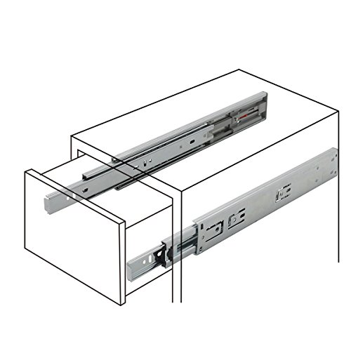 5 Pair x Probrico 12'' Push to Open Side Mount 100 LB Capacity Full Extension Ball Bearing 3 Fold Drawer Slides by Probrico (Image #6)
