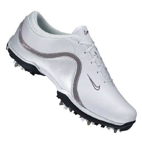 Nike 2012 Lady Ace Golf Shoes (NKW0063) White-Light Charcoal Medium 9