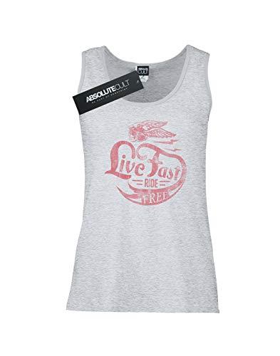 Camiseta Gris Live Drewbacca Fast Mangas Ride Free Sin Mujer Deporte 4awFq6v