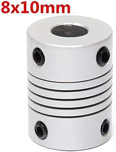 Wellen-Unterstützung Aluminium Flexible Wellenkupplung OD19mm X L25mm CNC Schrittmotor-Koppler-Verbindungs 8mm X 10mm