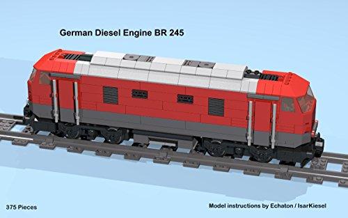 Amazon com: German diesel engine BR 245 (red): Lego MOC
