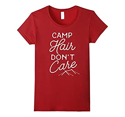 Women's Funny Camping T-Shirt 'Camp Hair Don't Care'